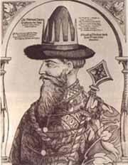 Иван Грозный (европейская гравюра на дереве, XVI век)