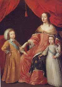 Супруга Людовика XIII - Анна Австрийская с детьми